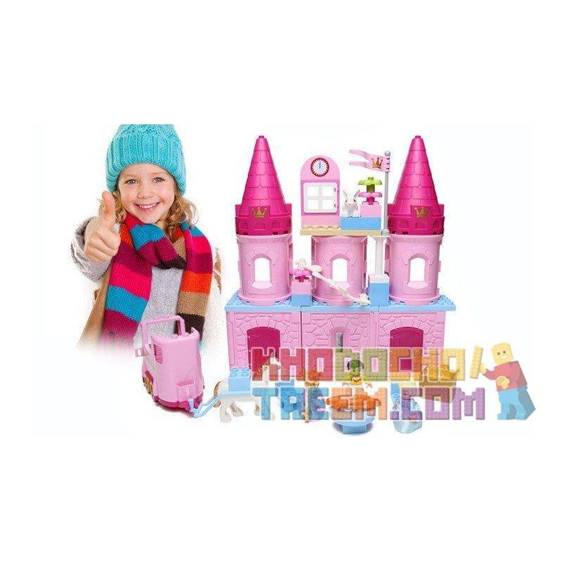 Hystoys Hongyuansheng Aoleduotoys HG-1346 Duplo 6154 Cinderella's Castle Xếp hình Lâu Đài Lọ Lem 77 khối