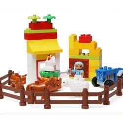 Hystoys HG-1362 Duplo 6141 My First Farm Xếp hình trang trại nhỏ 44 khối