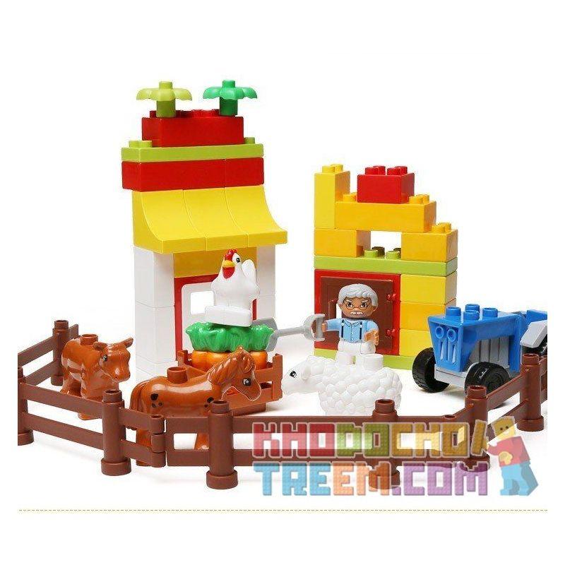 Lego Duplo 6141 Hystoys HG-1362 My First Farm Xếp hình trang trại nhỏ 44 khối