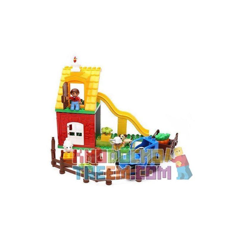 Hystoys Hongyuansheng Aoleduotoys HG-1363 (NOT Lego Duplo 10617 My First Farm ) Xếp hình Nông Trại Siêu Nhỏ 41 khối