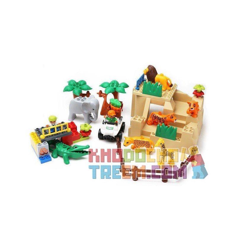 Lego Duplo 5634 Hystoys HG-1393 Feeding Zoo Xếp hình cho thú ăn trong vườn bách thú 43 khối