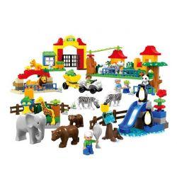 Lego Duplo 6157 Hystoys HG-1396 Aoleduotoys MG-5026 The Big Zoo Xếp hình vườn bách thú lớn 146 khối
