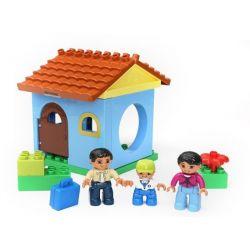 Hystoys HG-1414 Duplo Family House Xếp hình căn nhà nhỏ 17 khối