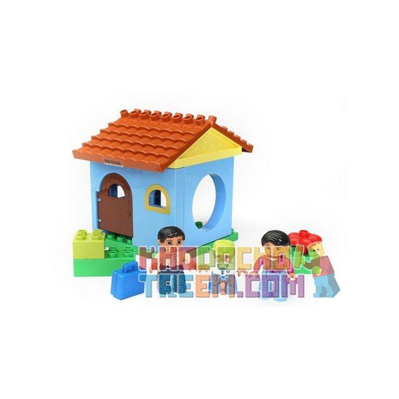 Lego Duplo Hystoys HG-1414 Family House Xếp hình căn nhà nhỏ 17 khối