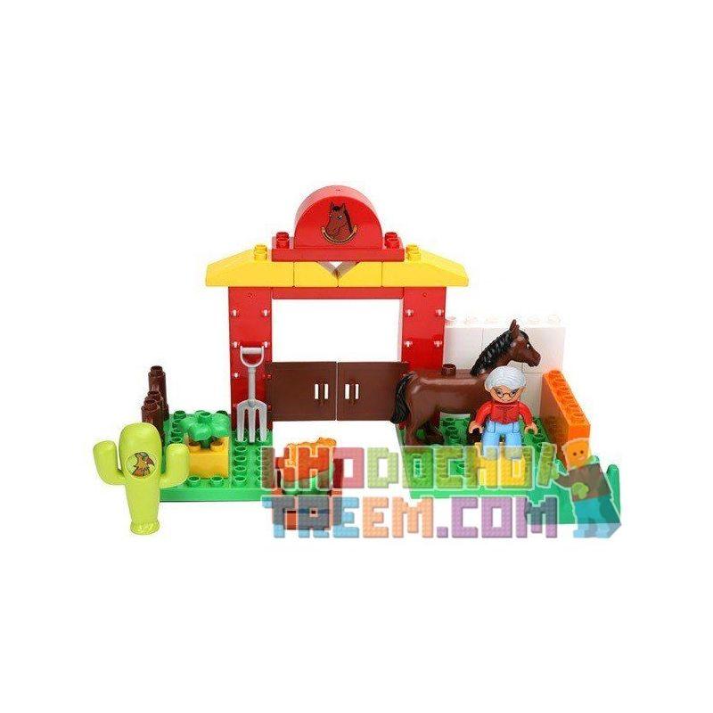 Lego Duplo 10806 Hystoys HG-1428 Horses Xếp hình trang trại ngựa nhỏ 34 khối