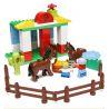 Lego Duplo 5648 Hystoys HG-1430 Horses Stables Xếp hình trang trại ngựa lớn 48 khối