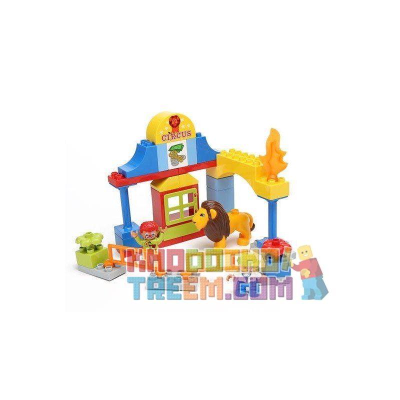 Hystoys Hongyuansheng Aoleduotoys HG-1435 (NOT Lego Duplo 5593 Circus ) Xếp hình Rạp Xiếc Mộng Mơ 61 khối