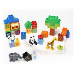 Lego Duplo 10572 Hystoys HG-1459 All-In-One Box of Fun Xếp hình Bộ học đếm trong hộp nhựa 42 khối