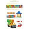 Lego Duplo 6051 Hystoys HG-1460 Letters Xếp hình Học tập với bảng chữ cái 46 khối
