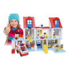 Lego Duplo 5795 Hystoys HG-1461 Big City Hospital Xếp hình bệnh viện trung ương và xe cấp cứu 127 khối
