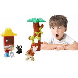 Lego Duplo 5646 Hystoys HG-1502 Farm Nursery Xếp hình chăm nom vật nuôi trang trại 17 khối