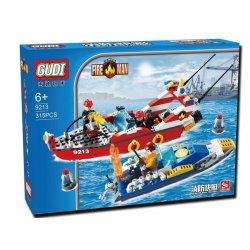 Gudi 9213 City Fire Boat Xếp Hình Xuồng Cứu Hỏa Chữa Cháy Cano 315 Khối