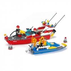 Lego City 60005 Gudi 9213 Fire Boat Xếp hình xuồng cứu hỏa chữa cháy cano 315 khối