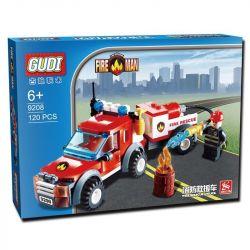 Xinlexin Gudi 9208 City Off Road Fire Rescue Xếp Hình Xe Bán Tải Cứu Hỏa 122 Khối