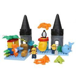 Hystoys Hongyuansheng Aoleduotoys HG-1450 (NOT Lego Duplo Arctic ) Xếp hình Lâu Đài Thủy Cung 41 khối