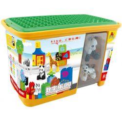 Hystoys Hongyuansheng Aoleduotoys HG-1459 (NOT Lego Duplo 10572 All-In-One Box Of Fun ) Xếp hình Bộ Học Đếm Trong Hộp Nhựa 65 khối