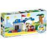 Lego Duplo 5681 Hystoys HG-1485 Police Station Xếp hình trại giam của cảnh sát có bàn hộp 45 khối