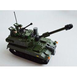 Gudi 600009A Military Army Armed Assault Xếp hình xe tăng 352 khối