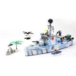 Gudi 8023 Military Army Offshore Picket Ship Xếp Hình Tàu Tuần Tra Biển 520 Khối