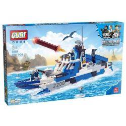 Gudi 8024 Military Army Stealth Missile Boat Xếp Hình Tàu Tên Lửa Cao Tốc Tàng Hình 578 Khối
