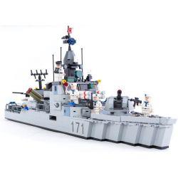 Gudi 8026 Military Army Nighty Missile Frigate Xếp Hình Tàu Hộ Vệ Tên Lửa Tàng Hình 693 Khối