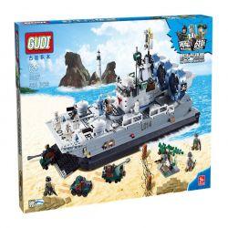 Xinlexin Gudi 8027 Military Army Zubr Bison Hovercraft Xếp Hình Tàu đệm Khí Zubr Bison 928 Khối
