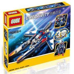Xinlexin Gudi 8115 (NOT Lego Creator 3 in 1 Creativity Transforming ) Xếp hình Rô Bốt Biến Hình Thành Phi Thuyền Chó Săn 242 khối