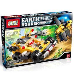 Xinlexin Gudi 8211 (NOT Lego Star wars The Jungle Ambush ) Xếp hình Ô Tô Chiến Đấu Cùng Robot Ong 185 khối