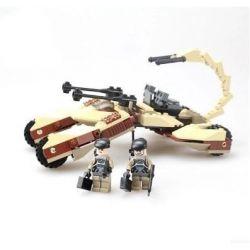 Lego Star Wars Earth Border Gudi 8213 The Desert Strike Xếp hình xe pháo bọ cạp 4 bánh 204 khối
