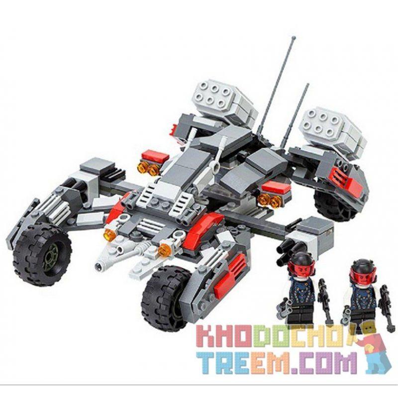 Gudi 8215 Star Wars Earth Border Thunder Shelling Xếp hình xe thiết giáp địa hình gắn pháo 296 khối