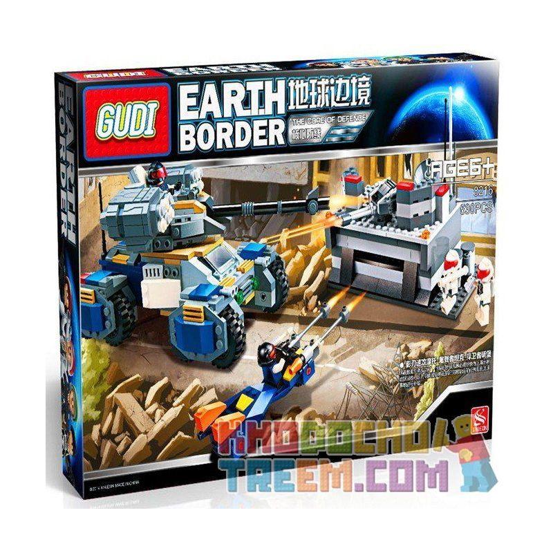 Xinlexin Gudi 8216 (NOT Lego The Core Of Defense ) Xếp hình Trung Tâm Phòng Vệ 530 khối