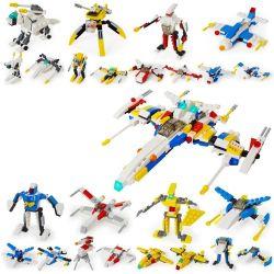 Lego Creator 8 in 1 Gudi 8604-8 space fighter 8 in 1 Xếp hình phi thuyền từ 8 robot biến hình 409 khối
