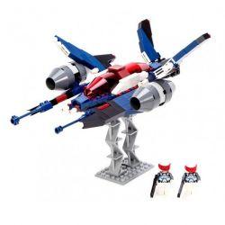 Lego Star Wars Earth Border Gudi 8613 White Inflammation Fighter Xếp hình phi thuyền chiến đấu 2 người lái 226 khối
