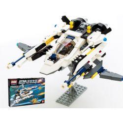 Lego Star Wars Earth Border Gudi 8614 The White Lion Fighter Xếp hình phi thuyền chiến đấu sư tử trắng 281 khối