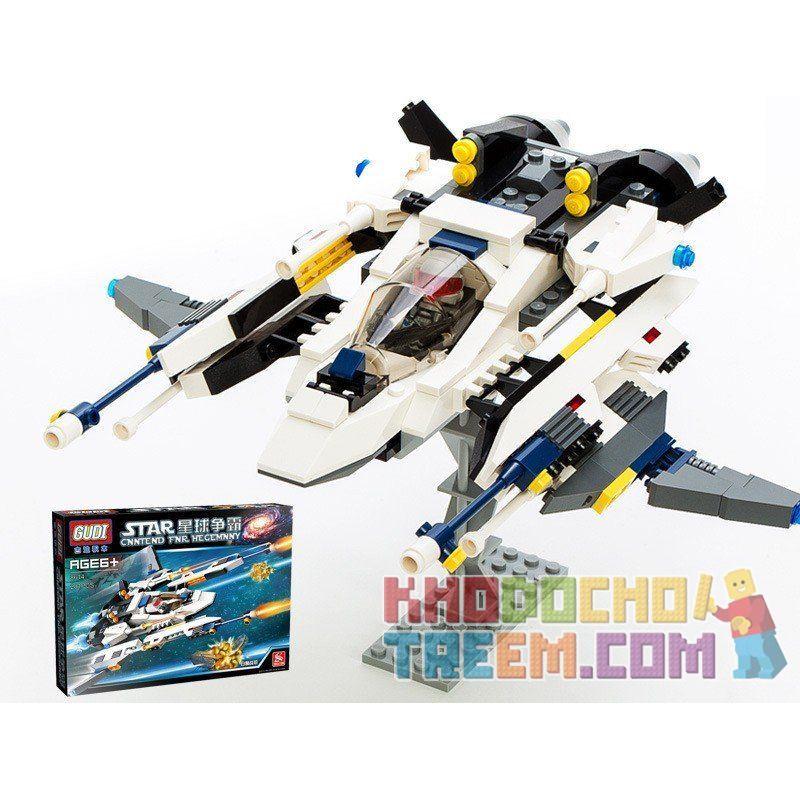 Gudi 8614 Star Wars Earth Border The White Lion Fighter Xếp hình phi thuyền chiến đấu sư tử trắng 281 khối