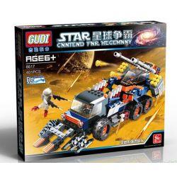 Gudi 8617 Star Wars Space War Assault Tank Xếp Hình Xe Tải Bọc Thép Chở Robot Bộ Binh 401 Khối