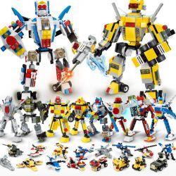 Gudi 8707-8 Creator 8 In 1 Transformers War 8 In 1 Xếp Hình đại Chiến Robot Biến Hình 8 Trong 1 578 Khối