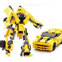 Xinlexin Gudi 8711 (NOT Lego Transformers Bumblebee ) Xếp hình Rô Bốt Biến Hình Xe Ô Tô Chevrolet Camaro Vàng 221 khối