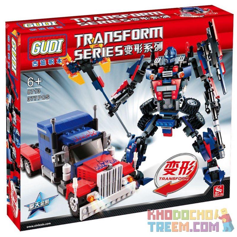 Xinlexin Gudi 8713 (NOT Lego Transformers Optimus Prime ) Xếp hình Thủ Lĩnh Tối Cao Autobot Robot Biến Hình Xe Đầu Kéo Peterbilt 379 khối