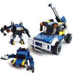 Gudi 8111 Creator 3 in 1 Robots transform automotive Xếp hình rô bốt biến hình ô tô 148 khối