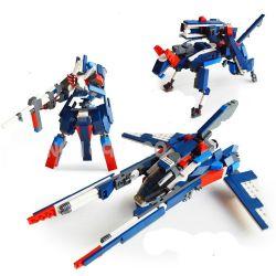 Lego Creator 3 in 1 Gudi 8115 Creativity Transforming Xếp hình rô bốt biến hình thành phi thuyền chó săn 242 khối