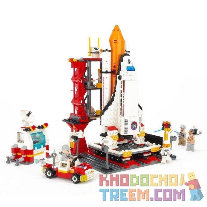 Gudi 8815 City 60080 Spaceport Building Kit Xếp hình Bãi phóng tàu con thoi 679 khối