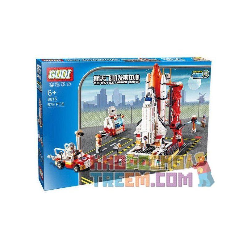 Xinlexin Gudi 8815 City Spaceport Building Kit Xếp hình Bãi Phóng Tàu Con Thoi 679 khối