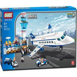 Gudi 8912 City Airport Passenger Terminal Xếp Hình Sân Bay Với Máy Bay Chở Khách Cỡ Vừa 652 Khối