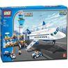 Gudi 8912 City 3182 Airport Passenger Terminal Xếp hình sân bay với máy bay chở khách cỡ vừa 652 khối