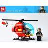 Lego City 7238 Gudi 9206 Fire Helicopter Xếp hình trực thăng cứu hỏa 91 khối