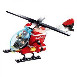 Gudi 9206 City 7238 Fire Helicopter Xếp hình trực thăng cứu hỏa 91 khối