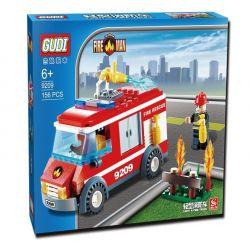 Gudi 9209 City Fire Truck Xếp Hình Xe Cứu Hỏa Chữa Cháy Bụi Hoa 156 Khối
