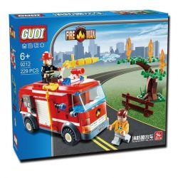 Gudi 9212 City Fire Truck Xếp Hình Xe Cứu Hỏa Phun Nước Chữa Cháy Cây 229 Khối