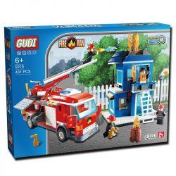 Gudi 9215 City Fire Emergency Xếp Hình Xe Thang Cứu Hỏa Chữa Cháy Nhà 431 Khối